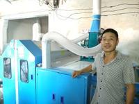 河南嵩县蔡老板开松梳理一体机安装成功。