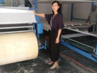 陜西寶雞李老板機彈棉花機器安裝調試成功