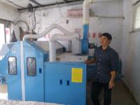 河南西华王老板的弹棉花机器安装成功。