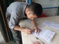 安徽弹花机客户合肥刘老板弹棉花机器安装成功
