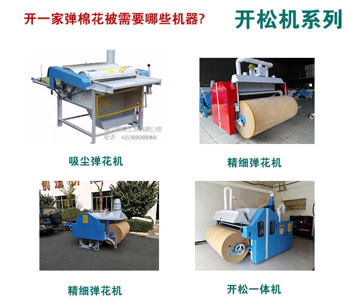 开一家小型棉被加工店需要哪些机器?投资需要多少钱?