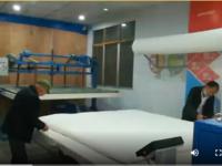 大型精细弹花一体机完装完成客户正在做被子